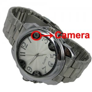 2GB Silver Spy Camera Wrist Watch with Micro Camcorder Hidden